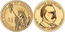 1 доллар 2012 D США UNC — Президент США — Гровер Кливленд (1893 — 1897) №24