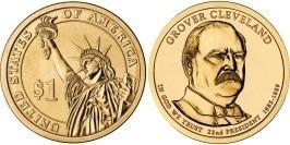 1 доллар 2012 P США UNC — Президент США — Гровер Кливленд (1885 — 1889) №22