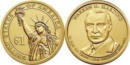 1 доллар 2014 D США  — Президент США — Уоррен Гардинг (1921 -1923) №29