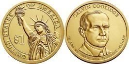 1 доллар 2014 D США UNC — Президент США — Калвин Кулидж (1923 -1929) №30