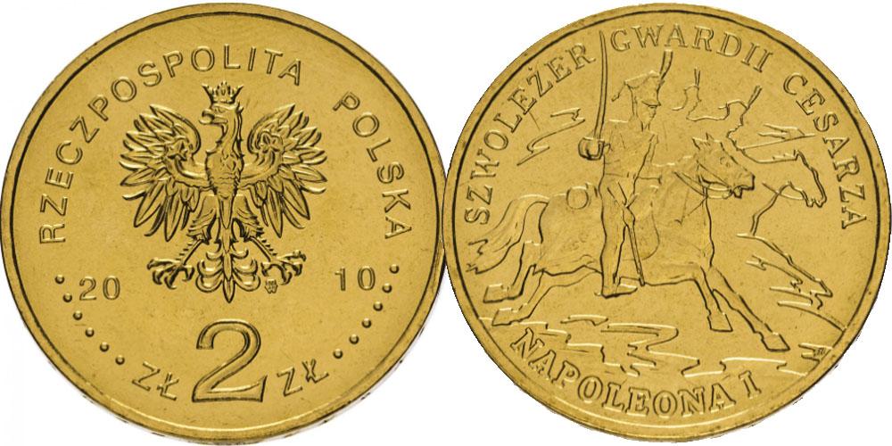 2 злотых 2010 Польша — История польской кавалерии — Легкая кавалерия гвардии Наполеона I
