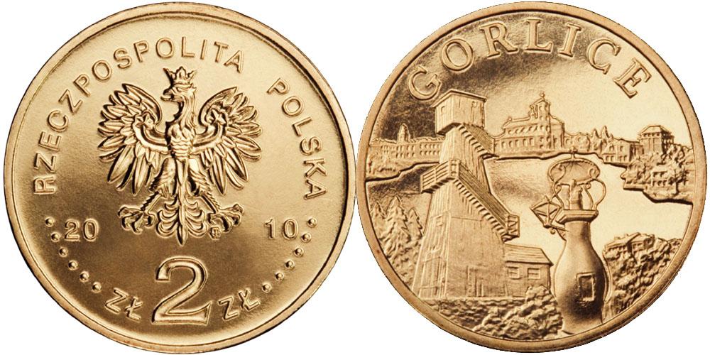 2 злотых 2010 Польша — Города Польши — Горлице