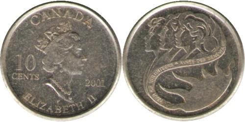 10 центов 2001 Канада — Международный год добровольцев