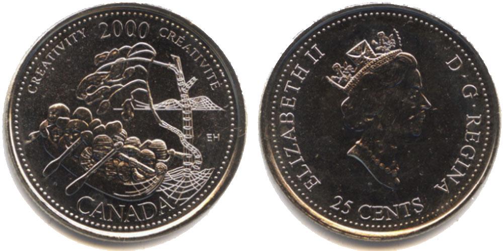 25 центов 2000 Канада — Миллениум — Креативность