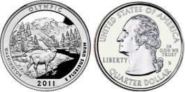 25 центов 2011 D США — Национальный парк Олимпик Вашингтон — Olympic National Park UNC