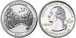 25 центов 2011 D США — Рекреационная зона Чикасо Оклахома — Chickasaw National Recreation Area UNC