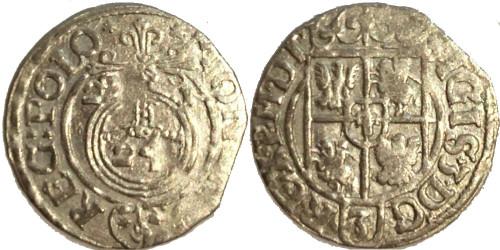 Полторак (1,5 гроша) 1621 Польша — Сигизмунд III — серебро №1