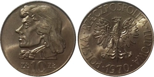 10 злотых 1970 Польша — Тадеуш Костюшко