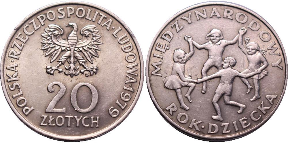 20 злотых 1979 Польша — Международный год детей