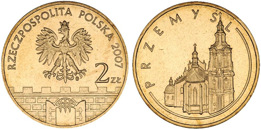 2 злотых 2007 Польша — Древние города Польши — Пшемысль