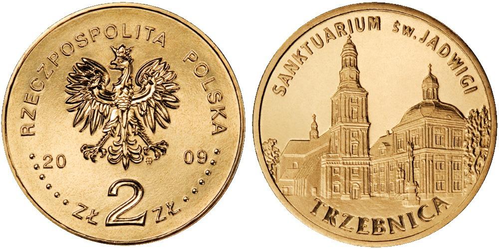 2 злотых 2009 Польша — Города Польши — Тшебница