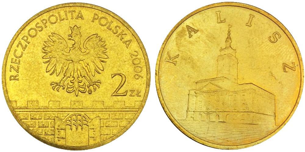 2 злотых 2006 Польша — Древние города Польши — Калиш