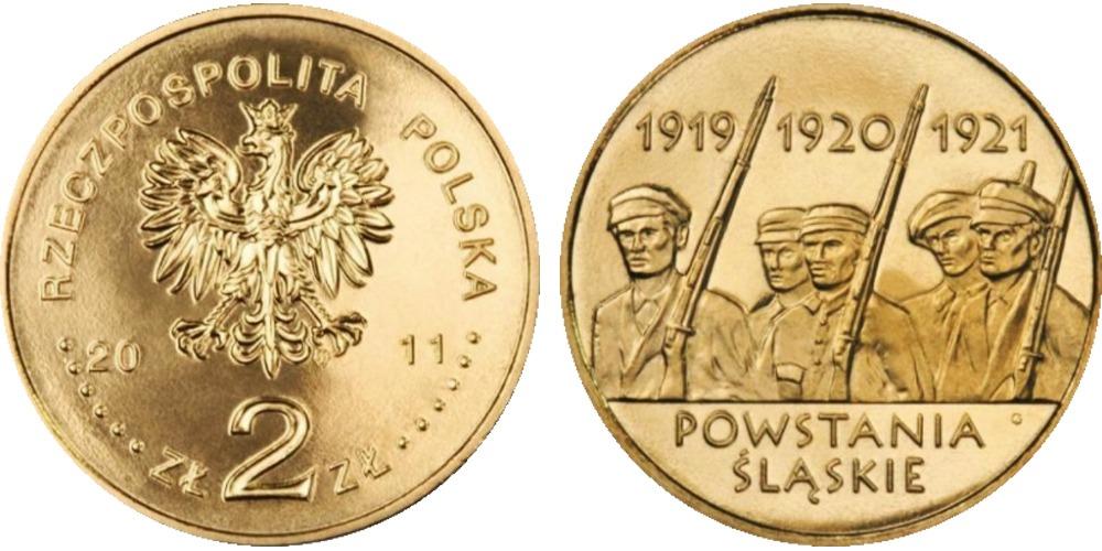 2 злотых 2011 Польша — Силезские восстания
