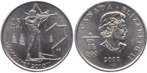 25 центов 2007 Канада — XXI зимние Олимпийские Игры, Ванкувер 2010 — Биатлон
