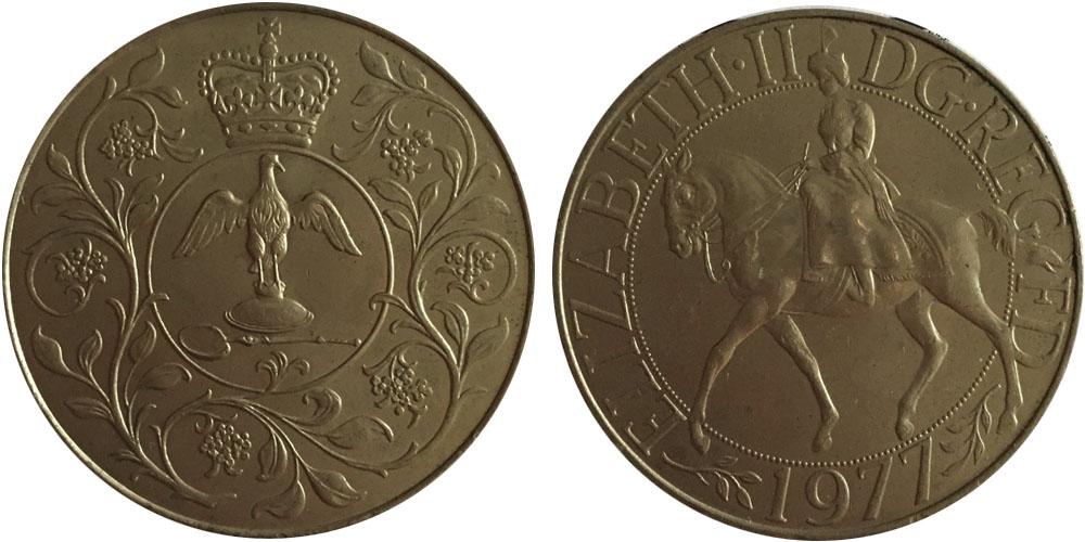 25 пенсов 1977 Великобритания — Cеребряный юбилей царствования Елизаветы II