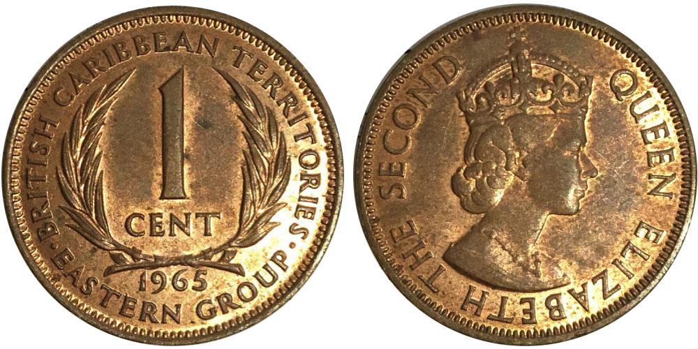 1 цент 1965 Восточные Карибы