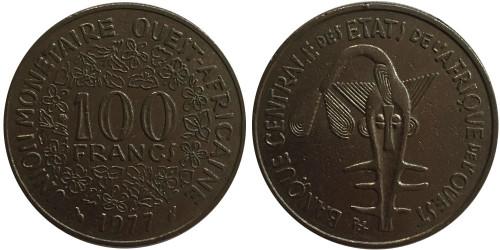100 франков 1977 Западная Африка
