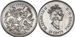 25 центов 1999 Канада — Миллениум — Июль 1999, Нация людей