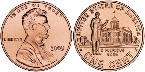 1 цент 2009 США — 200 лет со дня рождения Авраама Линкольна — Карьера в Иллинойсе