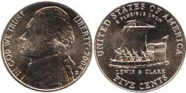 5 центов 2004 D США — 200 лет экспедиции Льюиса и Кларка — Лодка