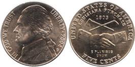 5 центов 2004 D США — 200 лет экспедиции Льюиса и Кларка — Приобретение Луизианы
