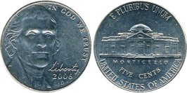 5 центов 2006 D США — Jefferson Nickel