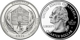 25 центов 2015 S США — Национальный монумент Гомстед — Homestead National Monument