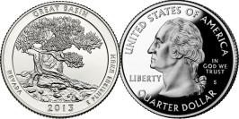 25 центов 2013 S США — Национальный парк Грейт-Бейсин