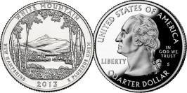 25 центов 2013 S США — Национальный парк Белые горы — White Mountains National Park