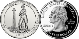 25 центов 2013 S США — Победа Перри и Международный мемориал мира