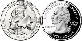 25 центов 2013 S США — Национальный мемориал Маунт — Рашмор