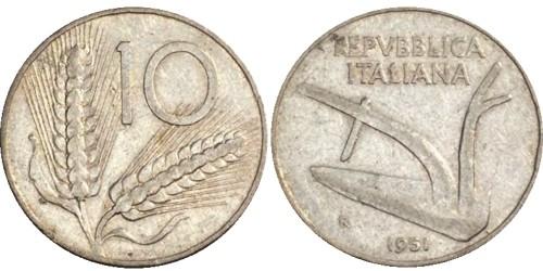 10 лир 1951 Италия