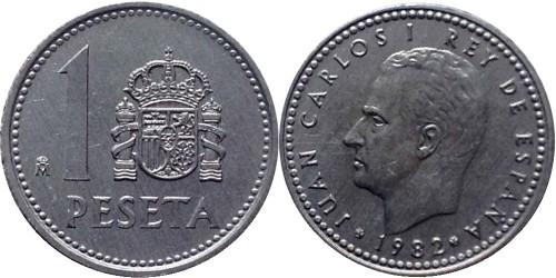 1 песета 1982 Испания