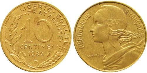 10 сантимов 1982 Франция