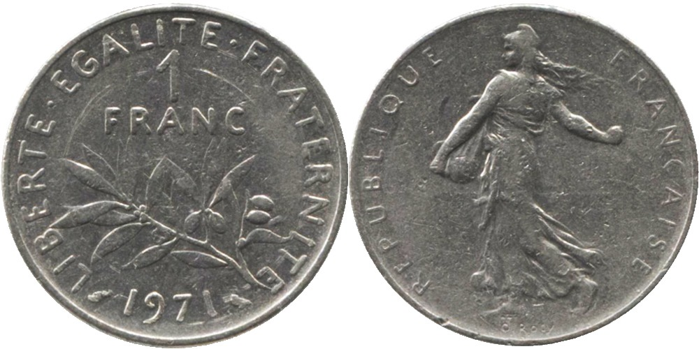1 франк 1971 Франция