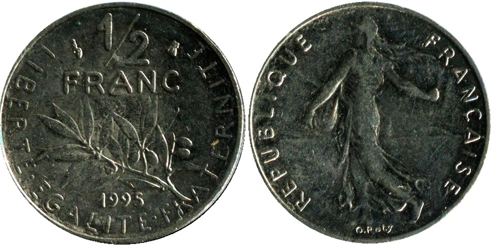 1/2 франка 1995 Франция
