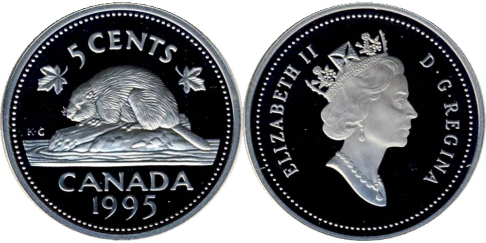 5 центов 1995 Канада