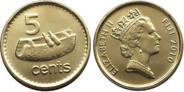 5 центов 2010 Фиджи — Фиджийский барабан лали