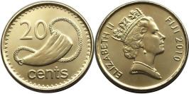 20 центов 2010 Фиджи UNC — Церемониальный зуб кашалота