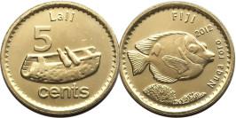 5 центов 2012 Фиджи UNC — Рыба кролик