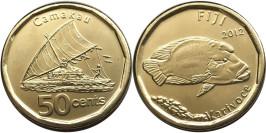 50 центов 2012 Фиджи UNC — Волнистый губан