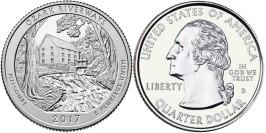 25 центов 2017 D США — Национальные водные пути Озарк (Миссури)