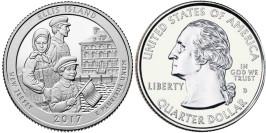 25 центов 2017 D США — Национальный монумент острова Эллис Нью-Джерси — Ellis Island