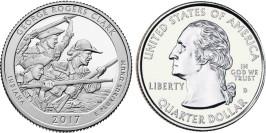 25 центов 2017 D США — Национальный исторический парк имени Джорджа Роджерса Кларка (Индиана)