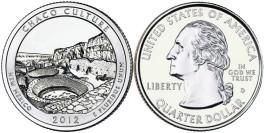 25 центов 2012 D США — Национальный исторический парк Чако (Нью — Мексико) UNC