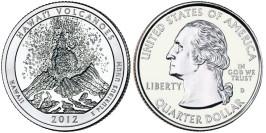 25 центов 2012 D США — Национальный парк Гавайские вулканы (Гавайи) UNC