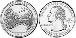 25 центов 2011 P США — Рекреационная зона Чикасо (Оклахома)