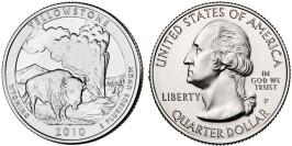 25 центов 2010 P США — Национальный парк Йеллоустоун (Вайоминг)