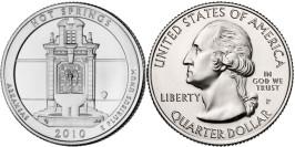 25 центов 2010 P США — Национальный парк Хот — Спрингс (Арканзас)