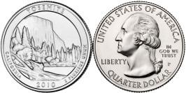 25 центов 2010 P США — Национальный парк Йосемити Калифорния — Yosemite National Park California